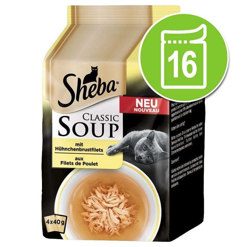Výhodné balení Sheba Classic Soup 16 x 40 g