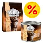 Výhodné balení Wild Freedom Kitten suché krmivo + mokré krmivo