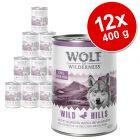 Výhodné balení Wolf of Wilderness Adult 12 x 400 g