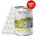 """Výhodné balení Wolf of Wilderness """"Free-Range Meat"""" Senior 24 x 400 g"""