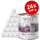 """Výhodné balení Wolf of Wilderness """"Free-Range Meat"""" Senior 24 x 800 g"""