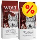 """Výhodné balení: 2 x 12 kg Wolf of Wilderness Adult """"The Taste of"""""""