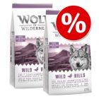 Výhodné balení: 2 x 12 kg Wolf of Wilderness granule