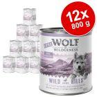 Výhodné balenie Little Wolf of Wilderness Junior 12 x 800 g