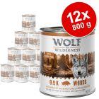 Výhodné balenie Wolf of Wilderness Adult 12 x 800 g
