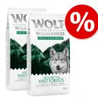 "Výhodné balenie Wolf of Wilderness ""Explore"" 2 x 12 kg"