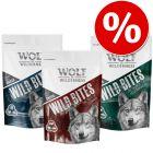 """Výhodné balenie Wolf of Wilderness Snack - Wild Bites """"The Taste Of"""" 3 x 180 g"""