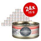 Výhodné balenie 24 x 70 g Greenwoods  Adult