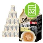 Výhodné megabalenie Sheba Classic Soup kapsičky 32 x 40 g