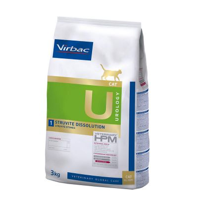 Virbac U1 Veterinary HPM Urology Struvite Dissolution para gatos