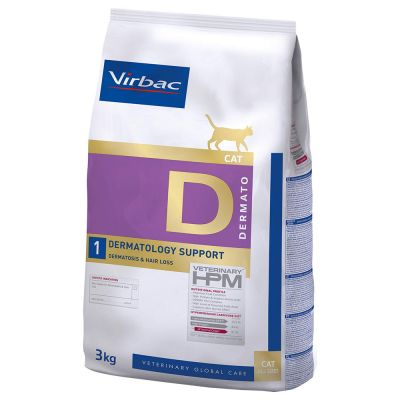 Virbac Veterinary HPM D1 Dermatology Support pour chat