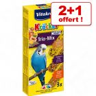 Vitakraft Trio-Mix Crackers pour perruche : 2 + 1 offert !