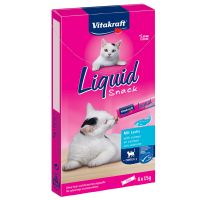 Vitakraft Cat Liquid Snack con Salmone + Omega 3