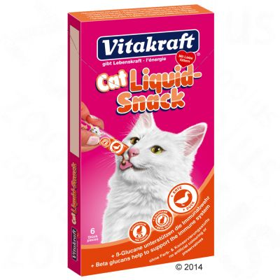Vitakraft Cat Liquid-Snack patka & ß-glukan