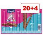 Vitakraft Cat Stick -kissanherkut 24 x 6 g: 20 + 4 kaupan päälle!