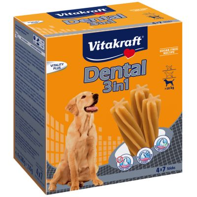 Vitakraft Dental 3in1 Medium Multipak