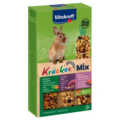 Vitakraft Dwarf Rabbit Cracker Sticks Trio-Mix
