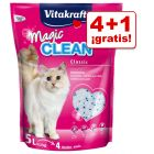 Vitakraft Magic Clean 5 x 5 l arena de sílice en oferta: 4 + 1 ¡gratis!