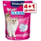 Vitakraft Magic Clean 5 x 5 l arena de sílice en oferta: 4 + 1 ¡gratis!