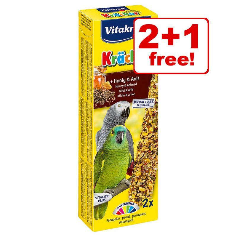 Vitakraft Parrot Cracker Sticks - 2 + 1 Free!*