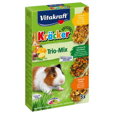 Vitakraft Trio-Mix Crackers pour cochon d'Inde