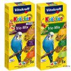 Vitakraft Trio-Mix Krackers, perruche, œuf, abricot  & miel