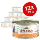 Voordeelpakket Almo Nature HFC Natural Made in Italy 12 x 70g Kattenvoer