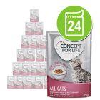 Voordeelpakket Concept for Life 24 x 85 g Kattenvoer