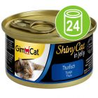 Voordeelpakket GimCat ShinyCat Jelly Kattenvoer 24 x 70 g