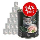 Voordeelpakket Leonardo All Meat Blikjes Kattenvoer 24 x 800 g