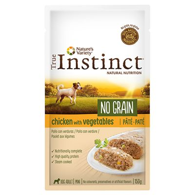 Voordeelpakket Nature's Variety True Instinct No Grain Mini Adult Paté 16 x 150 g