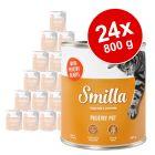 Voordeelpakket Smilla Gevogeltepannetje Kattenvoer 24 x 800 g