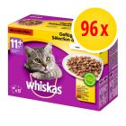 Voordeelpakket Whiskas 11+ Vershoudzakjes 96 x 100 g