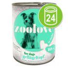 Voordeelpakket: zoolove Hondenvoeding 24 x 800 g
