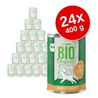 Voordeelpakket zooplus Bio Junior 24 x 400 g Hondenvoer