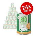Voordeelpakket zooplus Bio Senior 24 x 400 g Hondenvoer