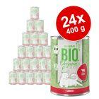 Voordeelpakket zooplus Bio Senior 24 x 400 g Kattenvoer