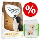 Welcome Kit Concept for Life + Tappetini igienici zooplus per cuccioli