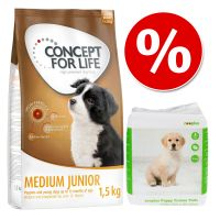 Welcome Kit Concept for Life + Tappetini igienici zooplus per cuccioli