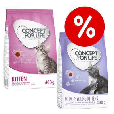 Welcome Kit Kitten 2 x 400 g crocchette Concept for Life miste