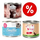Welcome Kit Kitten 18 x 200 g umido Smilla + Wild Freedom + Feringa