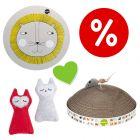 Welcome Kit Kitten zoolove: Sottociotola + Graffiatoio + Gioco