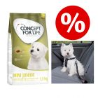 Welcome Kit Puppy & Junior Concept for Life Mini + Imbragatura da auto