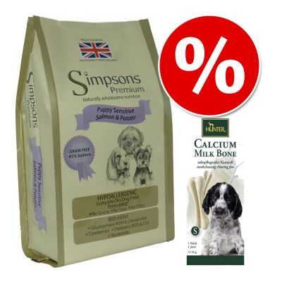 Welcome Kit Puppy & Junior Simpsons + Hunter Calcium Milk Bone