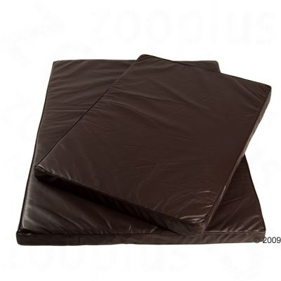 Wellness Dog Mattress - brown artificial leather
