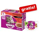 Whiskas 1 + saszetki, 96 x 100 g + Whiskas Anti-Hairball, 72 g gratis!