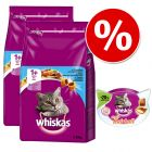 Whiskas 1+, 2 x 3,8 kg + Whiskas Anti-Hairball, 72 g w super cenie!