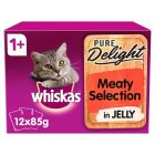 Whiskas 1+ Pure Delight Meaty Selection in Jelly