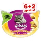 Whiskas Snacks para gatos en oferta: 6 + 2 ¡gratis!