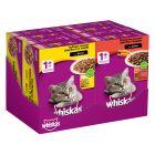Whiskas 1+ Adult Menuboks, Fjerkræ & Kød udvalg i sovs